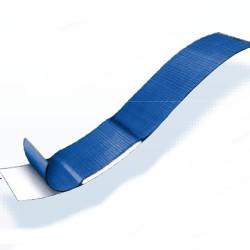 Lange blauwe detectie pleister 180 x 20 mm textiel